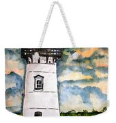 Edgartown Lighthouse Martha's Vineyard Mass Weekender Tote Bag