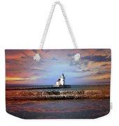 Edgewater Lighthouse Sunset Weekender Tote Bag