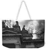 Edinburgh Black And White Weekender Tote Bag