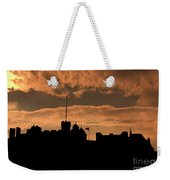 Edinburgh Castle Silhouette  Weekender Tote Bag