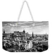 Edinburgh From Calton Hill.    Black And White Weekender Tote Bag