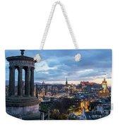 Edinburgh From Calton Hill Weekender Tote Bag