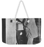 Edison Fluoroscope, 1896 Weekender Tote Bag by Science Source