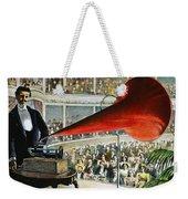 Edison Phonograph Ad, 1899 Weekender Tote Bag by Granger