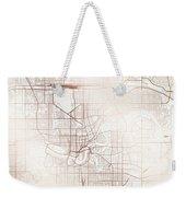 Edmonton Street Map Colorful Copper Modern Minimalist Weekender Tote Bag