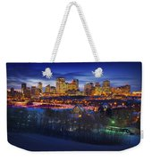 Edmonton Winter Skyline Weekender Tote Bag