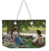 Edmund Blair Leighton 1852-1922 A Picnic Party Weekender Tote Bag