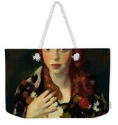 Edna Smith In A Japanese Wrap 1915 Weekender Tote Bag
