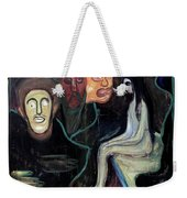 Edvard Munch - Girl And Three Mens Heads 1895-98 Weekender Tote Bag