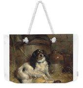 Edwin Douglas 1848-1914 A Cavalier King Charles Spaniel Weekender Tote Bag