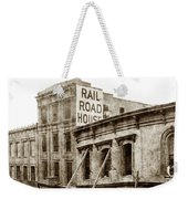 Effects Of The Earthquake, Oct. 21, 1868 Railroad House, Caly St Weekender Tote Bag