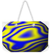 Egg In Space Blue And Yellow Weekender Tote Bag