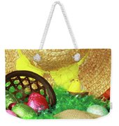 Eggs And A Bonnet For Easter Weekender Tote Bag