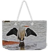 Egret And Cormorant Wings Weekender Tote Bag