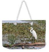 Egret And Turtles Weekender Tote Bag