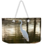 Egret At Waters Edge Weekender Tote Bag