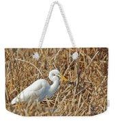 Egret Breakfast Weekender Tote Bag