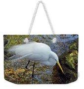Egret Fishing Weekender Tote Bag