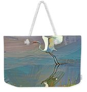 Egret Getting Ready For Take Off Weekender Tote Bag