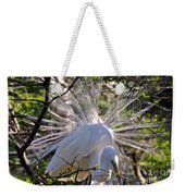 Egret In The Thicket Weekender Tote Bag