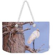 Egret In Tree Weekender Tote Bag