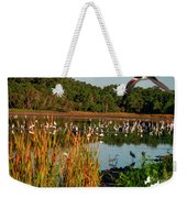 Egret Lake Weekender Tote Bag