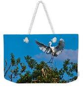 Egret Landing Weekender Tote Bag