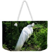 Egret On Guard Weekender Tote Bag