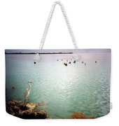 Egret On Marathon Key Weekender Tote Bag