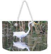 Egret On The Hunt Weekender Tote Bag