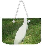 Egret Posing Weekender Tote Bag