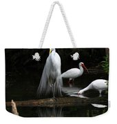 Egret Reflection Weekender Tote Bag