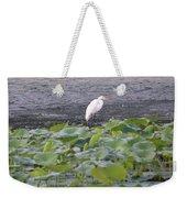 Egret Standing In Lake Weekender Tote Bag