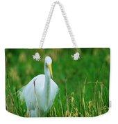 Egret Stare Down Weekender Tote Bag
