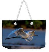 Egret Sunset Weekender Tote Bag