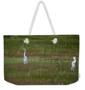 Egrets In A Field Weekender Tote Bag