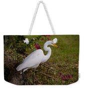 Egret's Meal Weekender Tote Bag