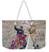 Egypt - Boy With A Camel Weekender Tote Bag