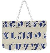 Egyptian For Carving Vintage Blue Font Design Weekender Tote Bag