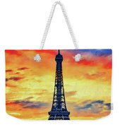 Eifel Tower In Paris Weekender Tote Bag