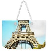 Eiffel Tower Portrait Weekender Tote Bag