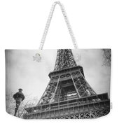 Eiffel Tower And Lamp Post Bw Weekender Tote Bag