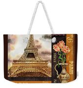 Eiffel Tower And Roses Weekender Tote Bag