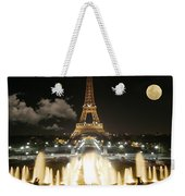 Eiffel Tower At Night Weekender Tote Bag