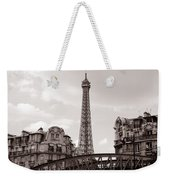 Eiffel Tower Black And White 3 Weekender Tote Bag
