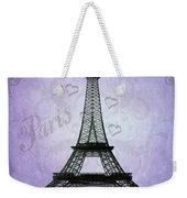 Eiffel Tower Collage Purple Weekender Tote Bag