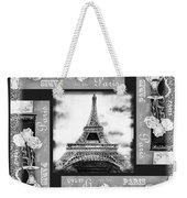 Eiffel Tower In Black And White Design I Weekender Tote Bag