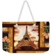 Eiffel Tower Roses Dance Weekender Tote Bag