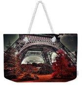 Eiffel Tower Surreal Photo Red Trees Paris France Weekender Tote Bag