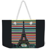 Eiffel Tower With Lines Weekender Tote Bag by Carla Bank